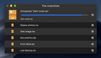 Abrir RAR con The Unarchiver en Mac