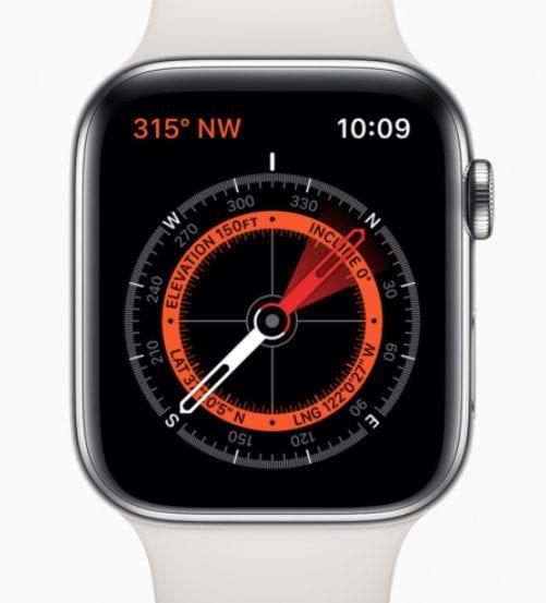 La Apple Watch Serie 5 viene con una brújula incorporada