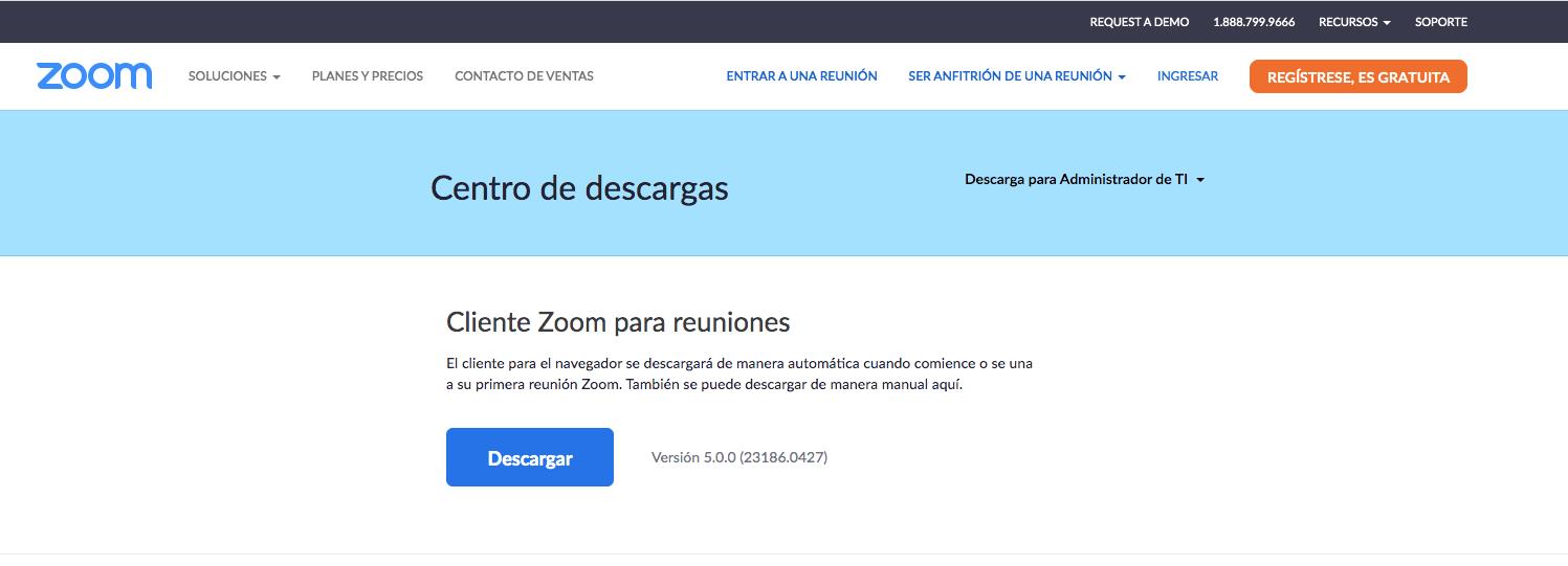 Descargar ZOOM para Mac