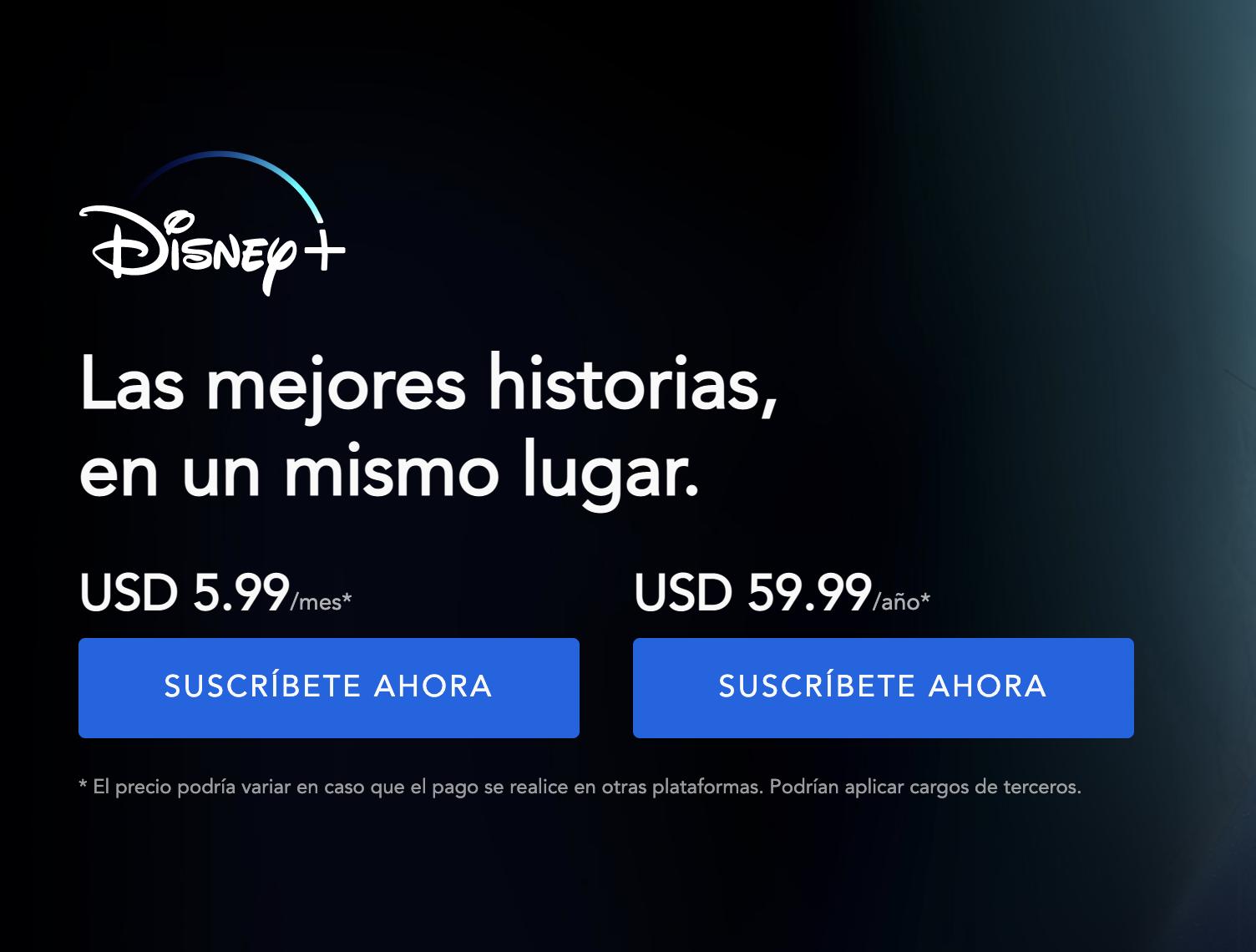 ¿Cuánto cuesta Disney Plus?