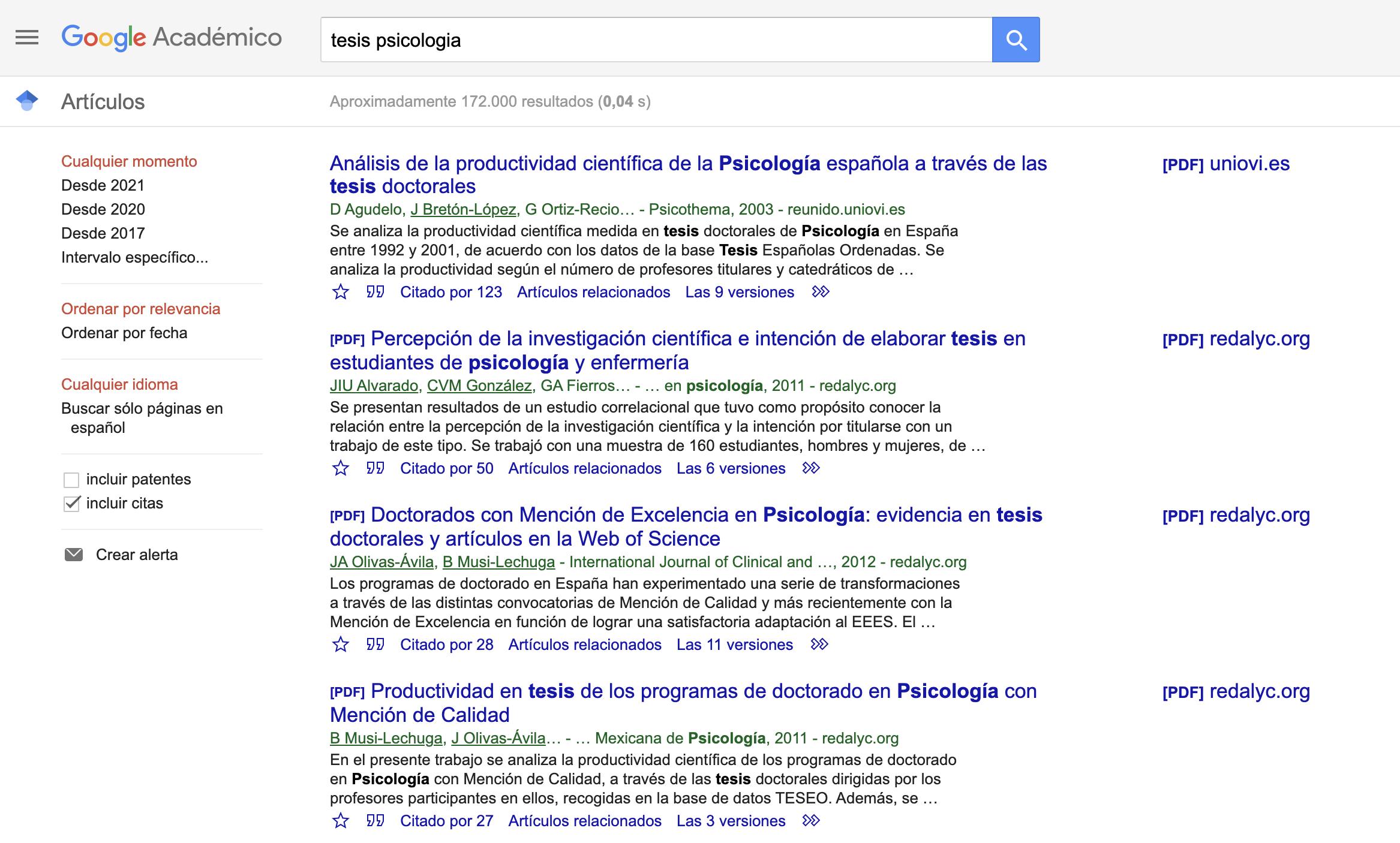 Cómo buscar en Google Académico?