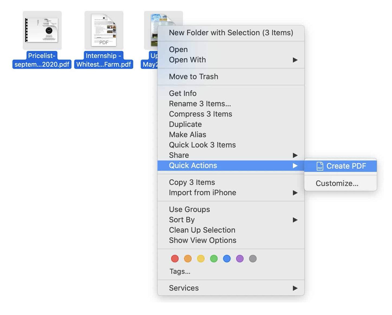 Unir PDFs en Mac
