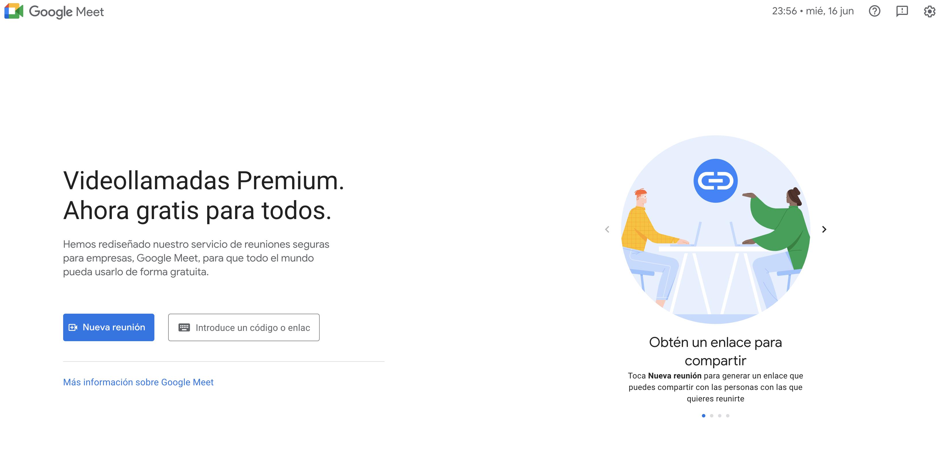 descargar google meet para pc gratis en español windows 10
